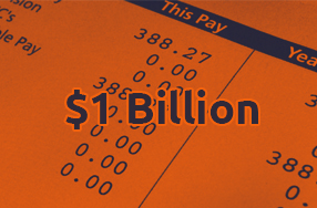 $1 billion Total Payrolls Processed