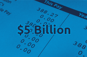 $5 billion total payrolls processed across the group